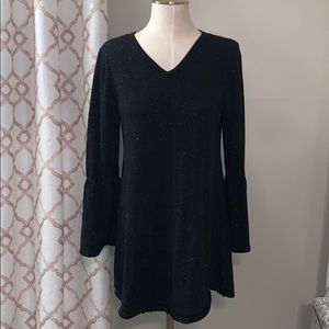 Style & Co Bell sleeve silver embellished Tunic